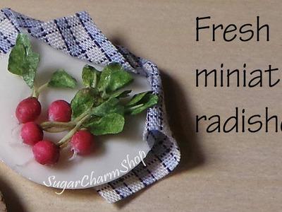 Miniature Food; Radish Tutorial - Polymer Clay Tutorial