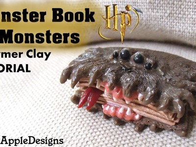 Miniature Polymer Clay Harry Potter's Monster Book of Monsters Charm Tutorial
