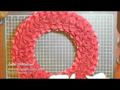 Paper Rose Wreath Tutorial