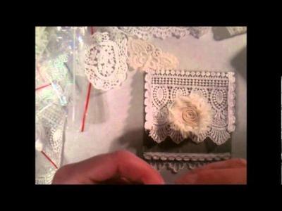 Part 2 shabby chic no sew pouch tutorial using fabri tac glue