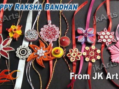 Pictures - Homemade Rakhi Idea for Raksha bandhan - JK Arts 003