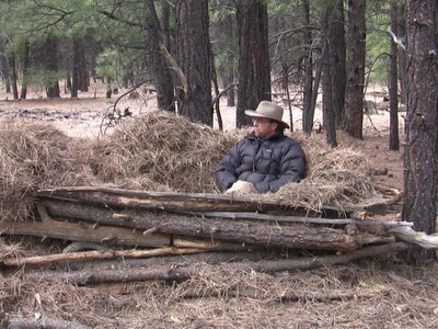 Pine Needle Bed Shelter with Tony Nester