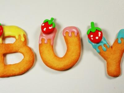 Polymer clay KAWAII Letter Cookies (fridge magnets) TUTORIAL