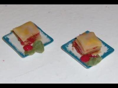 Polymer Clay Miniature - Lasagne