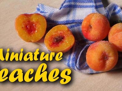 Polymer Clay Miniature Peaches - Tutorial