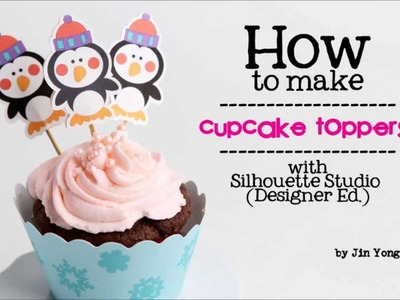 Print and Cut tutorial: How to make Cupcake Toppers with the Silhouette Cameo