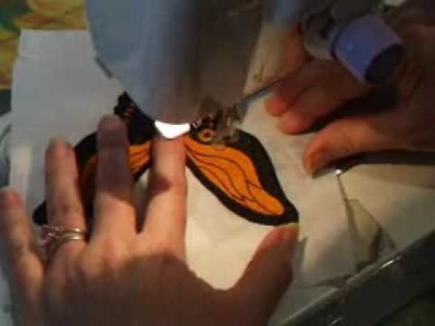 Quilting - butterfly stitching part 2