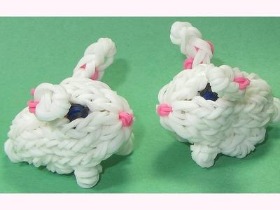 Rainbow Loom Charms 3D Bunny (Crazy Loom. bands Fun Loom)