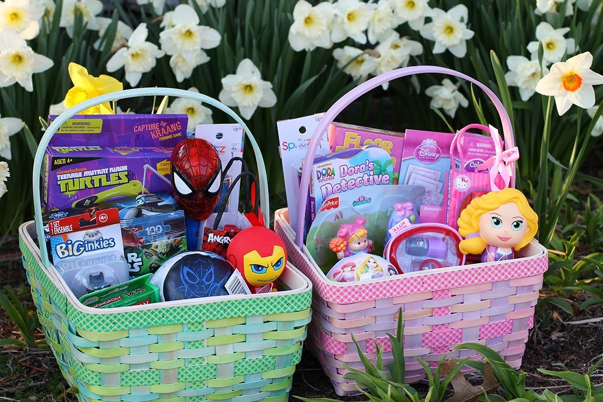 Shopping Target Clearance for Affordable Easter Baskets