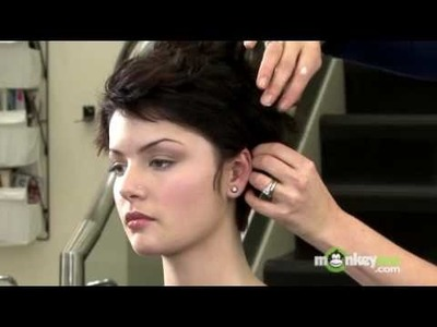 Short Hair Style - Formal Updo