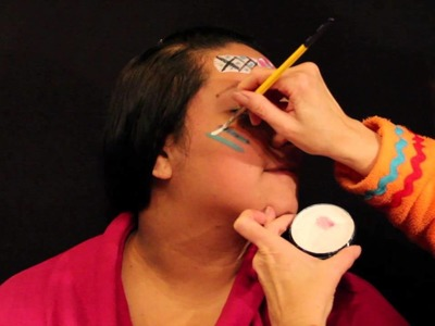 Silly Sally's Facepainting: How to facepaint an indian!