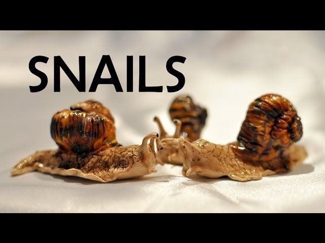 Snails! - polymer clay TUTORIAL