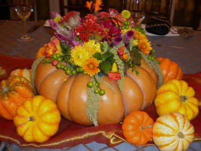 The Perfect Thanksgiving Centerpiece in a Fairy Tale Pumpkin