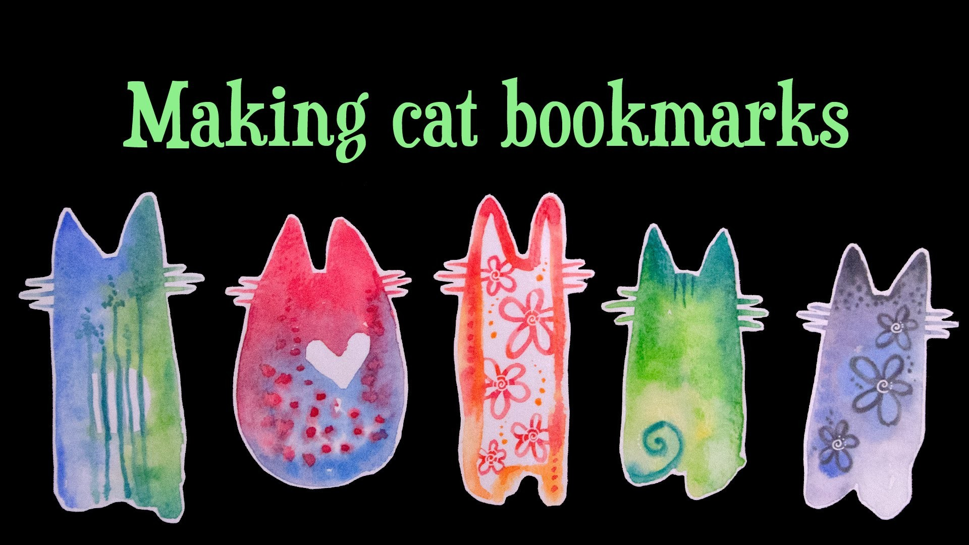 TUTORIAL: Laminated Cat Bookmarks