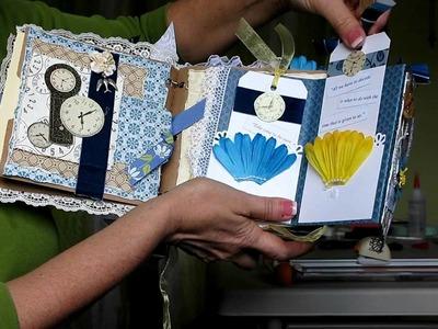 Victorian Time.Clock Paper Bag Album