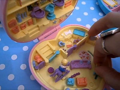 Vintage Polly Pocket collection: Baby sitting sets and two baby lockets!!!