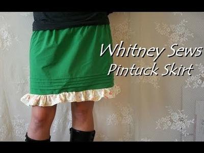 Whitney Sews- Pintuck Skirt