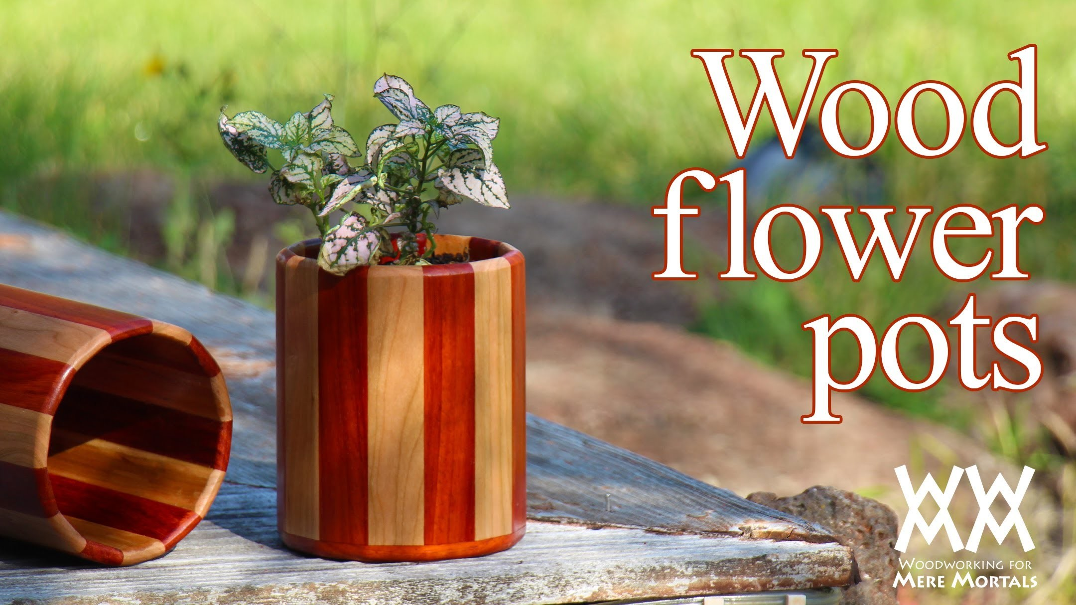 Wood flower pots. Great gift idea!
