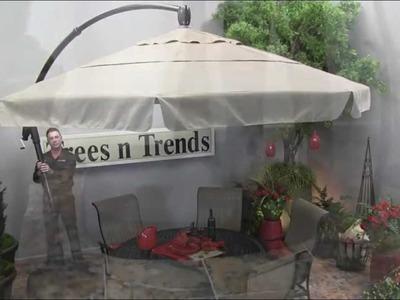 11' Octagonal Cantilever Umbrella by - Treasure Garden - Trees n Trends - Unique Home Decor