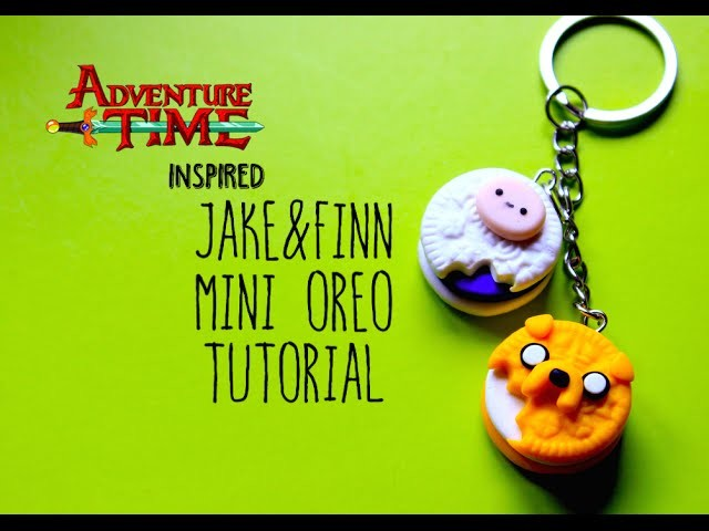Adventure Time Inspired Jake&Finn Polymer Clay Mini Oreo Tutorial | Pasteldaisy