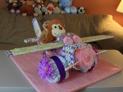 Airplane Diaper Cake (How To Make)