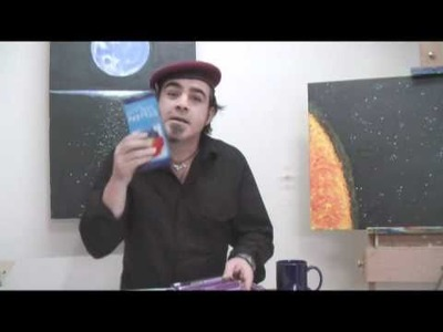 Art Lesson: How to Paint a Space Scene using Acrylic Paint