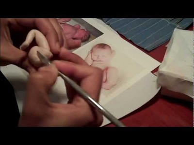 Attaching legs to a OOAK Polymer clay baby
