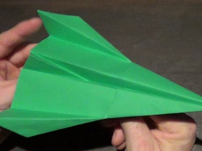Awsome paper airplaneTutorial  - How to make a Slick Paper Airplane