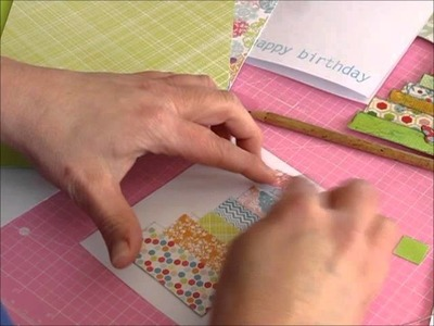 Card Making Tutorial Mixed Media Collage Paper Embellishments