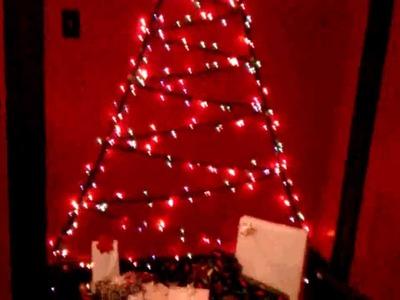 Christmas Tree on the wall.