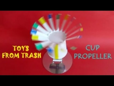 Cup Propeller   English   Beautiful used paper cup propellor
