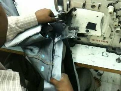 Denim Jeans Waist band making process