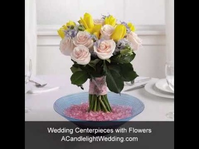 Floral and Candlelight Wedding Centerpieces from ACandlelightWedding.com