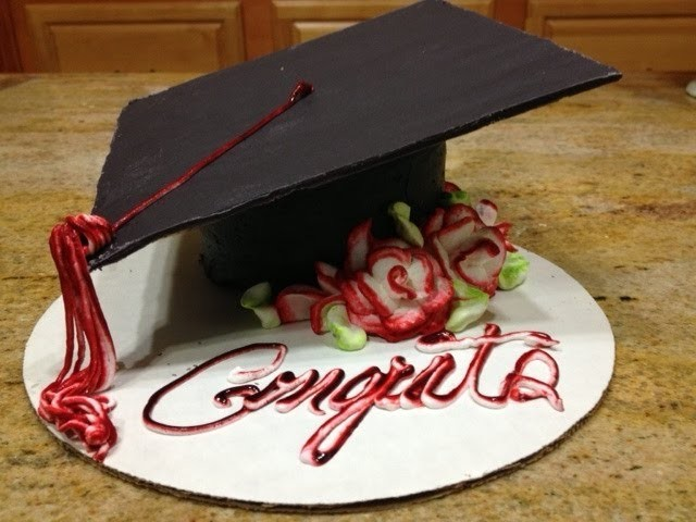 Graduation Cap Cake- How To-Cake Decorating