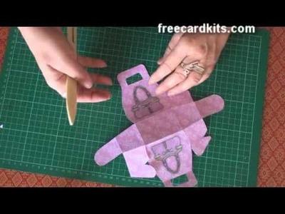 How to assemble a paper handbag box kit tutorial