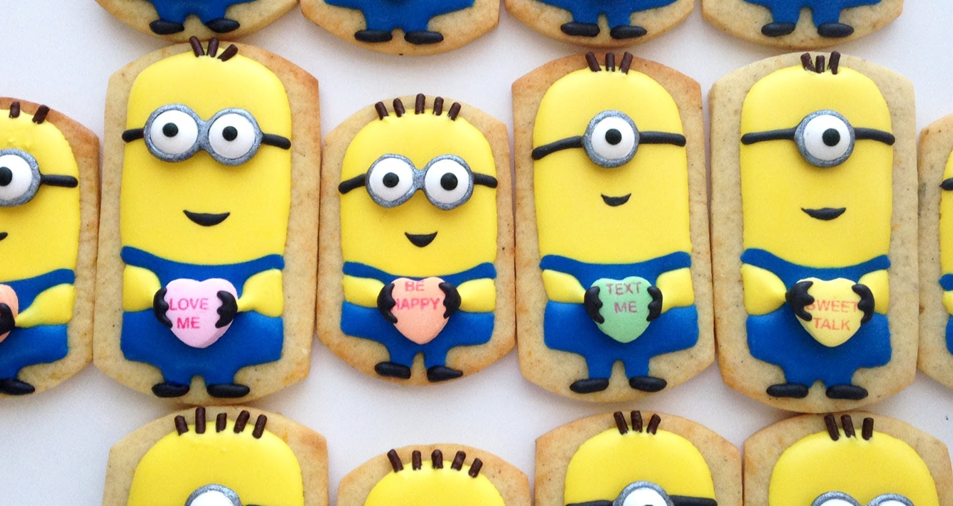 How To Decorate Minion Cookies for Valentine's Day!