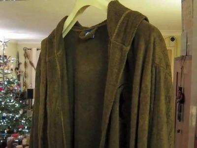 How to dye the Star Wars Jedi Robe a Darker Brown like Obi-wan using Dylon fabric Dye