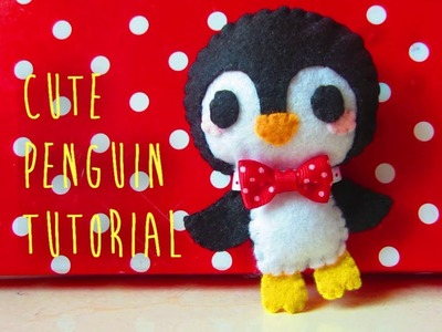 How To Make A Cute Penguin Felt Plushie