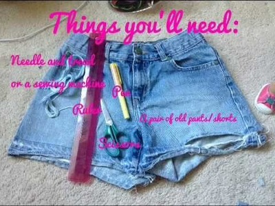 How to make a jean jacket vest for you american girl dolls!