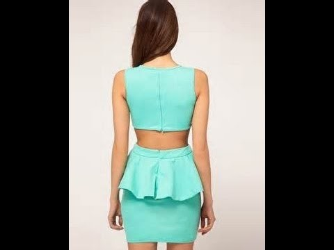 How to make a peplum dress with cut outs backless