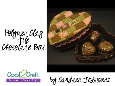 How to Make a Polymer Clay Tiled Chocolates Box by Candace Jedrowicz