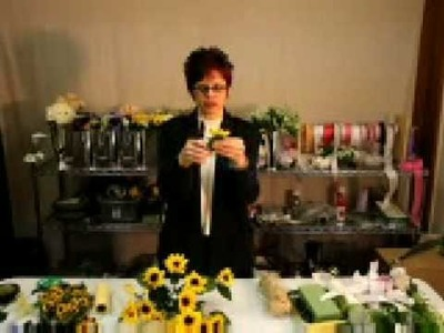 How to Make a Sunflower Boutonniere - Afloral.com Videos