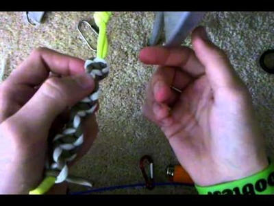 How to make a Tri-Colored twisted paracord bracelet