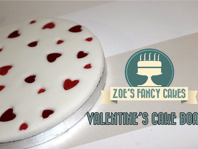 How to make a valentines heart cake board cake decorating valentines How To Tutorial
