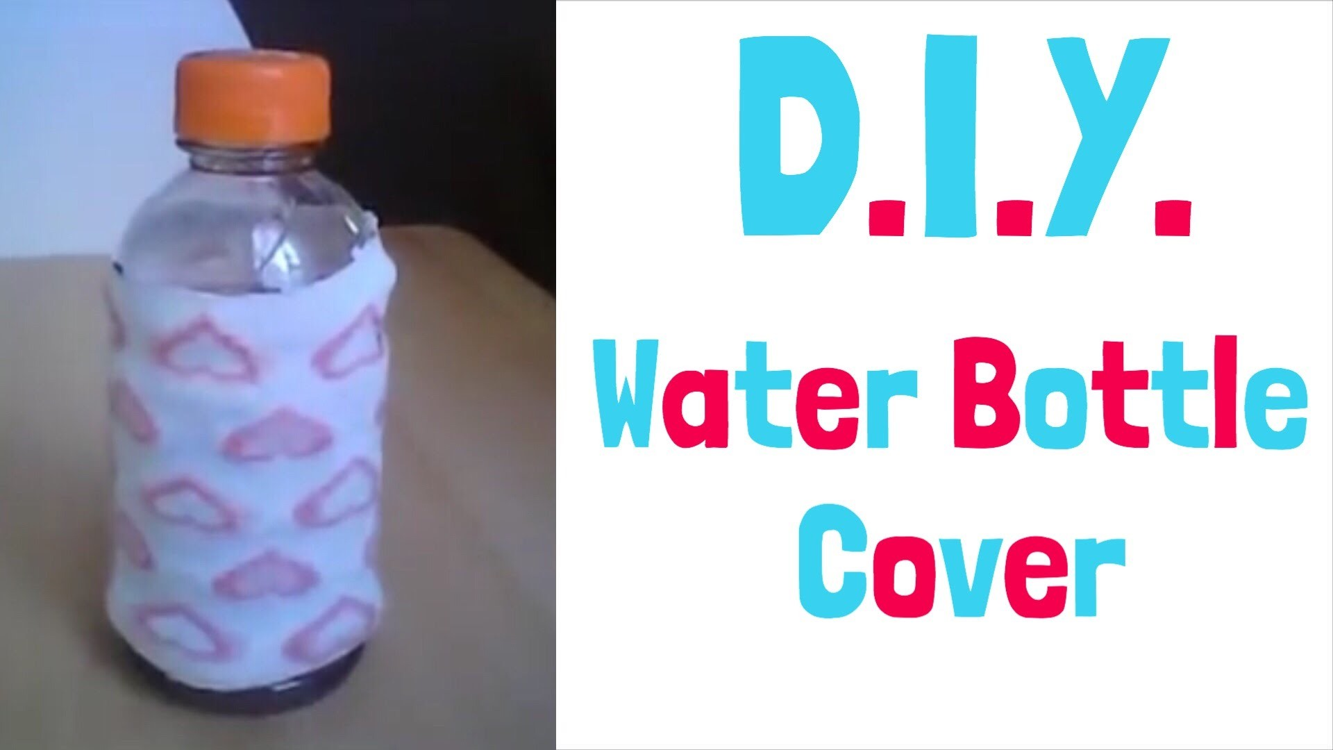 How to make a water bottle cover! ☔️ | Funda para una Botella de Agua