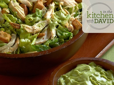 How To Make Chicken Caesar Salad with Avocado Dressing