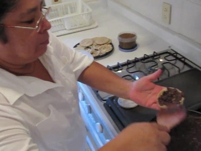 How to make Sopes with refried beans, salsa & cheese