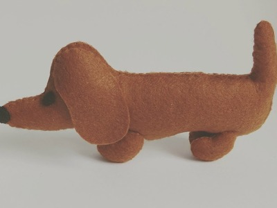 How To Sew A Dachshund Puppy Plushie Tutorial