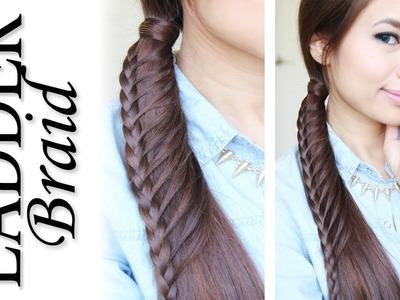Ladder Braid Ponytail Hairstyle for Medium Long Hair Tutorial - Bebexo