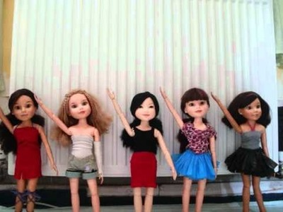 MY FIVE BFC INK DOLLS DANCING!!!